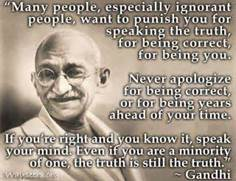Ghandi speaks