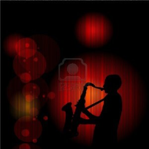 16085988-artwork-sax-player-on-red-background