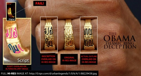 ... ; Hi-Res Image Of Obama's Ring Appears To Show No Islamic Phrase